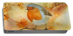 Robin Among Flowers Portable Battery Charger