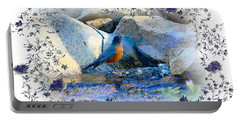 Portable Battery Charger featuring the photograph Robin by Athala Carole Bruckner