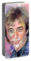 Robin Gibb Portrait Watercolor Portable Battery Charger