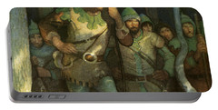 Robin Hood And His Merry Men Portable Battery Charger by Newell Convers Wyeth