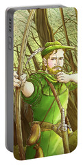 Robin  Hood In Sherwood Forest Portable Battery Charger