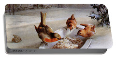 Robins And Wrens  Winter Breakfast Portable Battery Charger