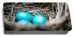 Robin's Eggs Portable Battery Charger by Shelby  Young