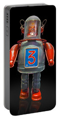 Robo Space Toys Knockout On Black Portable Battery Charger