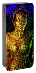 Robot Of Metropolis Portable Battery Charger by Michael Cleere