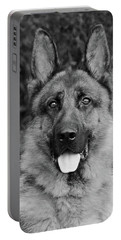 Portable Battery Charger featuring the photograph Rocco - Bw by Sandy Keeton