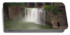 Portable Battery Charger featuring the photograph Rochester, New York - High Falls by Frank Romeo