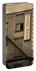 Portable Battery Charger featuring the photograph Rochester, New York - Jimmy Mac's Bar 2 Sepia by Frank Romeo