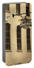 Portable Battery Charger featuring the photograph Rochester, New York - Jimmy Mac's Bar 3 Sepia by Frank Romeo