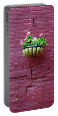 Portable Battery Charger featuring the photograph Rochester, New York - Purple Wall by Frank Romeo