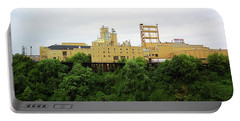 Portable Battery Charger featuring the photograph Rochester, Ny - Factory On A Hill by Frank Romeo