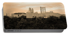 Portable Battery Charger featuring the photograph Rochester, Ny - Factory On A Hill Sepia by Frank Romeo