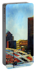 Rochester New York Late Winter Portable Battery Charger by Jodie Marie Anne Richardson Traugott          aka jm-ART