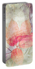 Portable Battery Charger featuring the photograph Rock And Leaf Composite 2 by Elaine Teague