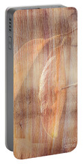 Portable Battery Charger featuring the photograph Rock And Leaf Composite by Elaine Teague