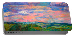 Portable Battery Charger featuring the painting Rock Castle Gorge by Kendall Kessler