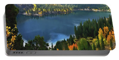 Rock Creek Lake In Fall Portable Battery Charger