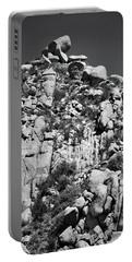 Rock Face Sandia Mountain Portable Battery Charger