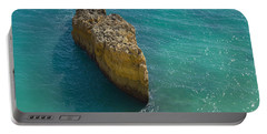 Rock Formation And The Sea In Algarve Portable Battery Charger by Angelo DeVal