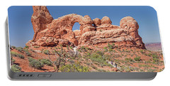 Portable Battery Charger featuring the photograph Rock Formation, Arches National Park, Moab Utah by A Gurmankin