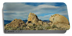 Portable Battery Charger featuring the photograph Rock Formations At Pyramid Lake by Benanne Stiens