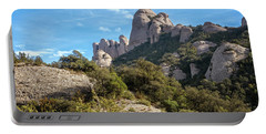 Rock Formations Montserrat Spain II Portable Battery Charger