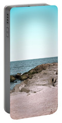 Portable Battery Charger featuring the photograph Rock Jetty by Colleen Kammerer