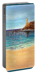 Portable Battery Charger featuring the painting Rock Of Ages Let Me Hide Myself In Thee by Kimberlee Baxter