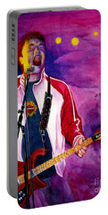 Rock On Tom Portable Battery Charger by Nancy Cupp
