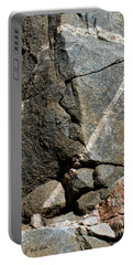 Rock Patterns-signed-#9753 Portable Battery Charger by J L Woody Wooden