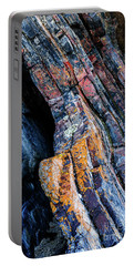 Portable Battery Charger featuring the photograph Rock Pattern Sc01 by Werner Padarin