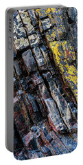 Portable Battery Charger featuring the photograph Rock Pattern Sc02 by Werner Padarin