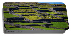 Portable Battery Charger featuring the photograph Rock Walls Of Inisheer, Aran Islands by James Truett