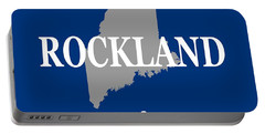Portable Battery Charger featuring the photograph Rockalnd Maine State City And Town Pride  by Keith Webber Jr