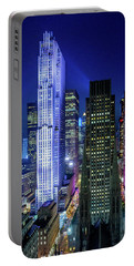 Portable Battery Charger featuring the photograph Rockefeller At Night by M G Whittingham
