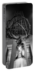 Rockefeller Center Black And White  Portable Battery Charger
