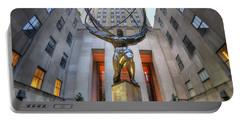 Rockefeller Centre Atlas - Nyc - Vertorama Portable Battery Charger
