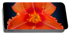 Rocket Orange Daylily Portable Battery Charger
