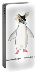 Rockhopper Penguin Portable Battery Charger by Fred Jinkins
