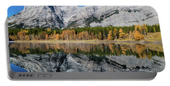 Rockies From Wedge Pond Under Late Fall Colours, Spray Valley Pr Portable Battery Charger