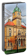 Rockingham County Courthouse Portable Battery Charger by Jim Harris