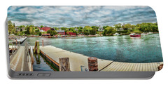 Portable Battery Charger featuring the photograph Rockport Inner Harbor by Daniel Hebard