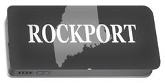 Portable Battery Charger featuring the photograph Rockport Maine State City And Town Pride  by Keith Webber Jr