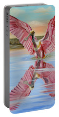 Portable Battery Charger featuring the painting Rockport Roseate Spoonbill by Phyllis Beiser