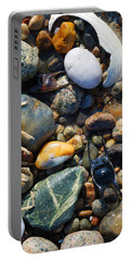 Rocks And Shells On Sandy Neck Beach Portable Battery Charger