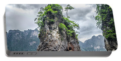 Rocks At Khao Sok Portable Battery Charger