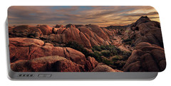 Rocks At Sunrise Portable Battery Charger