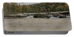 Rocks On Cumberland River Portable Battery Charger