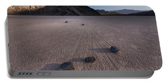 Rocks On The Racetrack Death Valley Portable Battery Charger