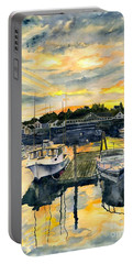 Rocktide Sunset Portable Battery Charger by Melly Terpening